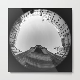 The spiral staircase in the Renaissance castle Hartenfels in Torgau / Saxony 7 Metal Print