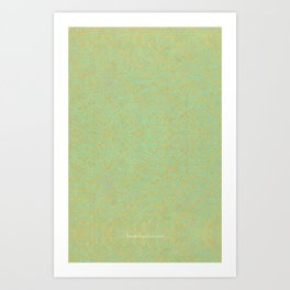 Green and Gold Pattern Art Print