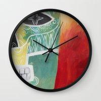 calavera Wall Clocks featuring Calavera 2 by Santiago Uceda