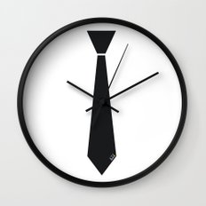 Initial Tie Wall Clock