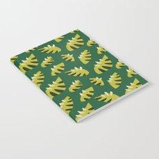 Pretty Clawed Green Leaf Pattern Notebook