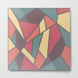 Geometric Colour Pattern V1 Metal Print