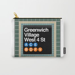 subway greenwich village sign Carry-All Pouch