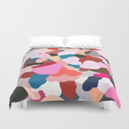 petals: abstract painting Duvet Cover