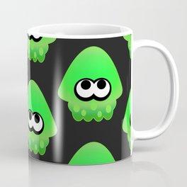 Splatoon Squid Pattern Green Coffee Mug