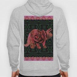 Vintage Rose 1960s Pink Dinosaur Print Hoody