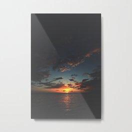 Black Sunset Metal Print