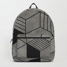 Random concrete hexagons Backpack