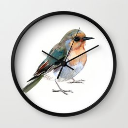 Robin bird children illustration design Wall Clock