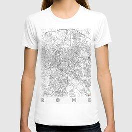 Rome Map Line T-shirt
