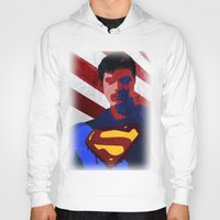 superman Hoodies featuring Superman by Scar Design