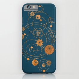 Lotus pool geometry iPhone Case