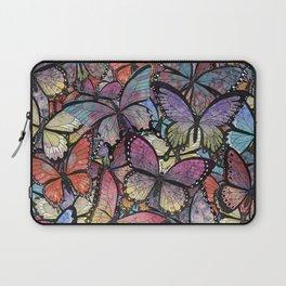 butterflies aflutter colorful version Laptop Sleeve