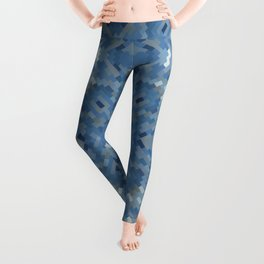 BLUEJEANS graphic design in shades of blue Leggings