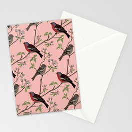 Peaceful harmony in the cherry tree Stationery Cards