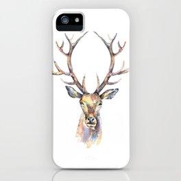 Deer's watercolor portrait. iPhone Case
