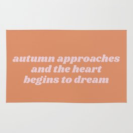 autumn approaches Rug