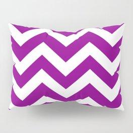 Mardi Gras - violet color - Zigzag Chevron Pattern Pillow Sham