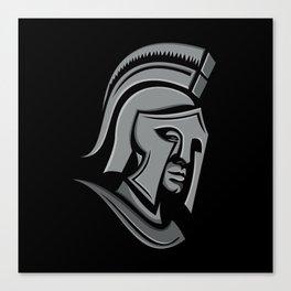 Spartan Warrior Head Metallic Icon Canvas Print