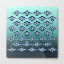 Manta ray - Sapphire Metal Print