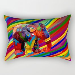 Full Color Abstract Elephant Rectangular Pillow