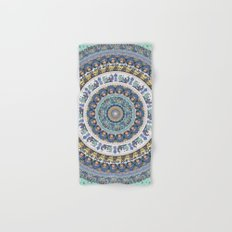 Frenchie Yoga Medallion Hand & Bath Towel