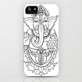 Ganesha. Hand drawn illustration iPhone Case