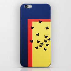 Butterfly Squares Papercut iPhone & iPod Skin