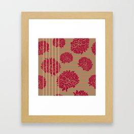 Shine Stripes - Magenta Pink and Tan Framed Art Print