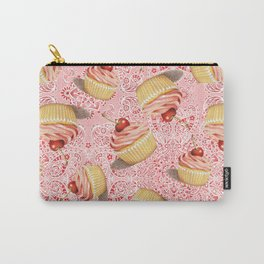 Pink Paisley Cupcake Twirling Carry-All Pouch