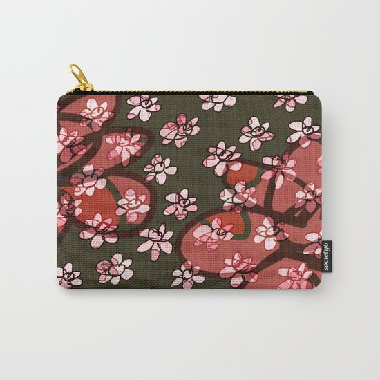 Seamless Pattern / Pink Flowers Carry-All Pouch