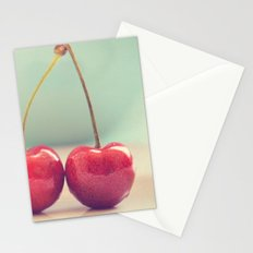 deux. cherries photograph Stationery Cards
