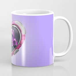 Techno Cyber Heart Bitch Coffee Mug