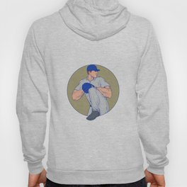 American Baseball Pitcher Throw Ball Circle Drawing Hoody