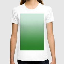 Pastel Green to Green Horizontal Linear Gradient T-shirt