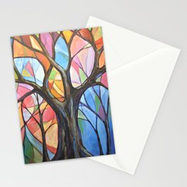 Abstract Art Landscape Original Painting ... Colors of the Wind Stationery Cards