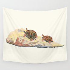 The Tortoise on a Rock Wall Tapestry