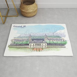 Color Sketch from London 04 Rug