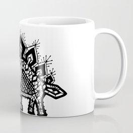Stegosaurus Lace - Black Coffee Mug