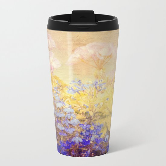 Small Garden Metal Travel Mug