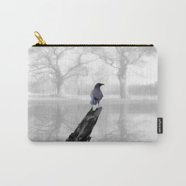 Crow On Misty Pond A114 Carry-All Pouch