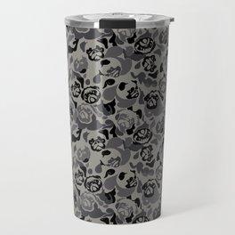Pug Black Camouflage Travel Mug