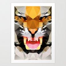 Tiger - Geo Art Print