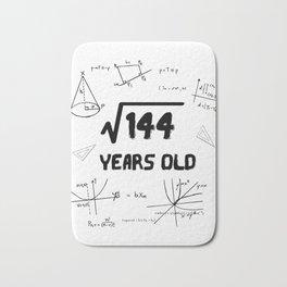 Square Root Of 144 12th Birthday Bath Mat