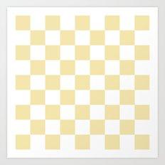 Checker (Vanilla/White) Art Print