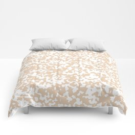 Small Spots - White and Pastel Brown Comforters
