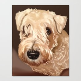 Kiesha Dog Portrait Canvas Print