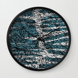 Textured brushstrokes - Sarah Bagshaw Wall Clock