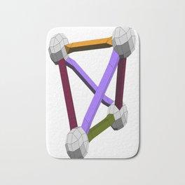 vZome tetrahedron Bath Mat