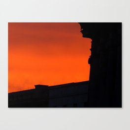 Sunset w/o boulevard Canvas Print